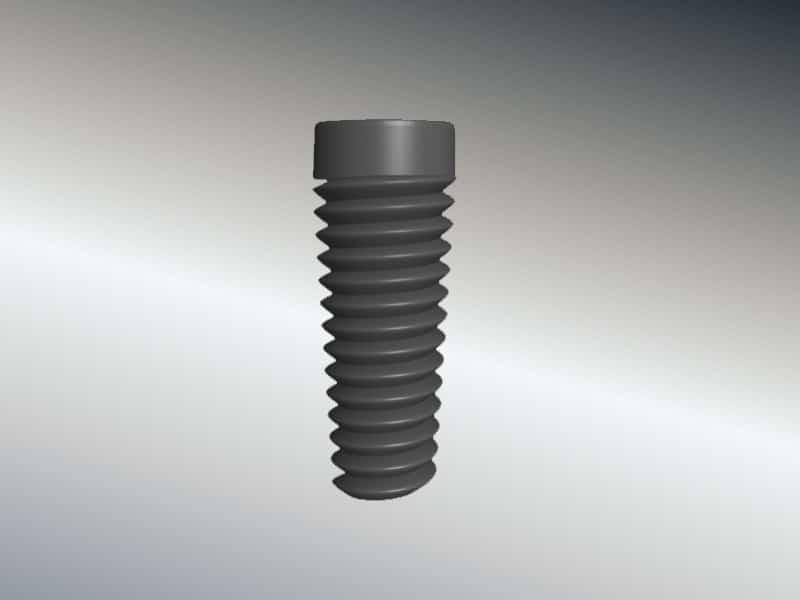 Implantatschraube - Aufbau eines Zahnimplantats