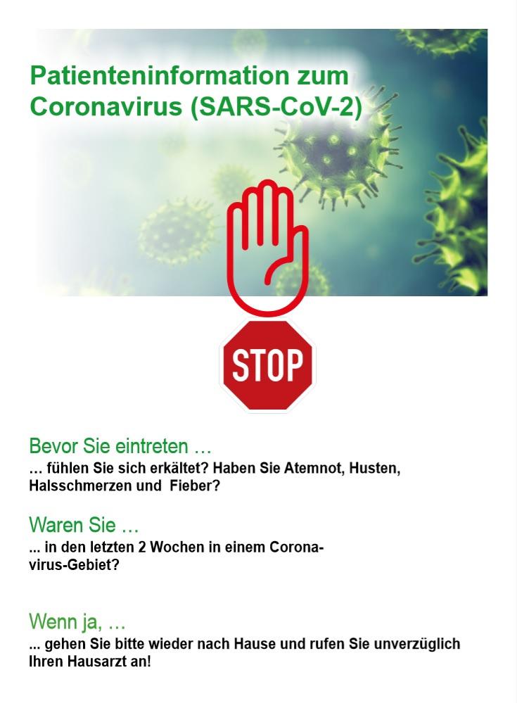 Coronavirus Patienteninformation der Zahnmedizin an der Haranni Clinic in Herne